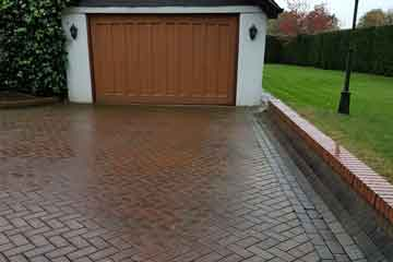 Before Pressure Tech pressure washed the block driveway and paths in Halstead, Kent TN14