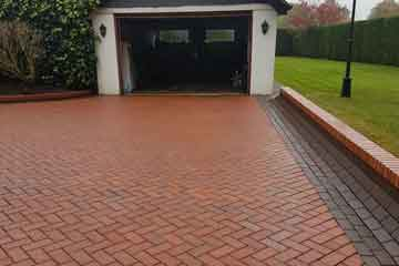 After Pressure Tech pressure washed the block driveway and paths in Halstead, Kent TN14
