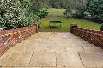 After Pressure Tech cleaned the patio in Ightham
