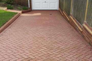 After Pressure Tech cleaned the driveway in Meopham