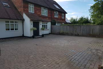 Before Pressure Tech cleaned the driveway in Edenbridge, Kent TN8