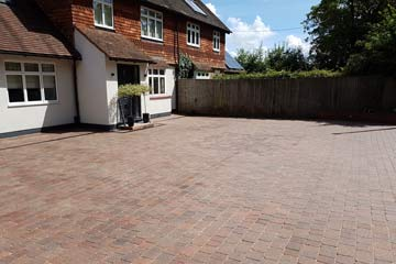After Pressure Tech cleaned the driveway in Edenbridge, Kent TN8