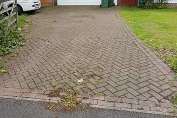 Before Pressure Tech cleaned the driveway in West Kingsdown, Kent TN15