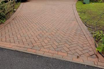 After Pressure Tech cleaned the driveway in West Kingsdown, Kent TN15