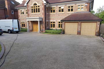 Before Pressure Tech cleaned the driveway in Kippington, Sevenoaks, Kent TN13