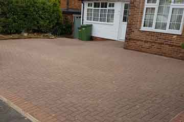 After Pressure Tech pressure washed and sanded the driveway in Pembury, Kent TN2